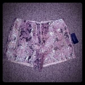 FOREVER 21 Gold & pink tapestry shorts